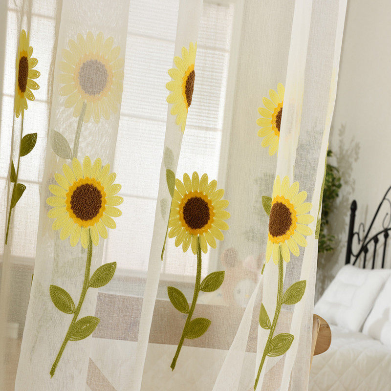 Fenster screening balkon fertigen produkt design sonnenblume tüll ...