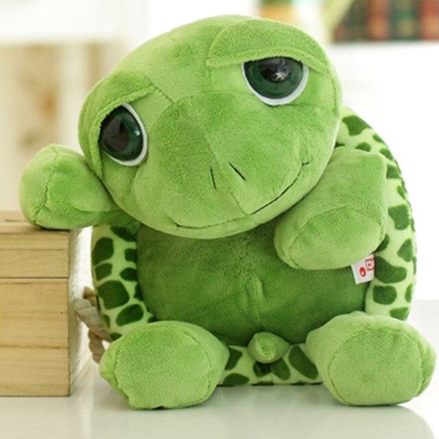 Bonito Encantador 18 centímetros Mini Kawaii Green Tortoise Stuffed Animal Macio Brinquedo de Pelúcia para As Crianças Do Bebê Crianças Frete Grátis