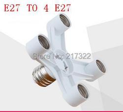 E27 do 4 kepala E27 dasar lampu Cahaya Lampu Umbi Adapter konwerter E27 Lampu Adapter dudukan lampu non Biaya Kirim|e27 e27|e27 4e27 converter -