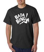 Bada Bing T Shirt Gangster Mafia Funny New Jersey Mob Strip Club NY Fashion Style Men Tee,100% Cotton Classic tee