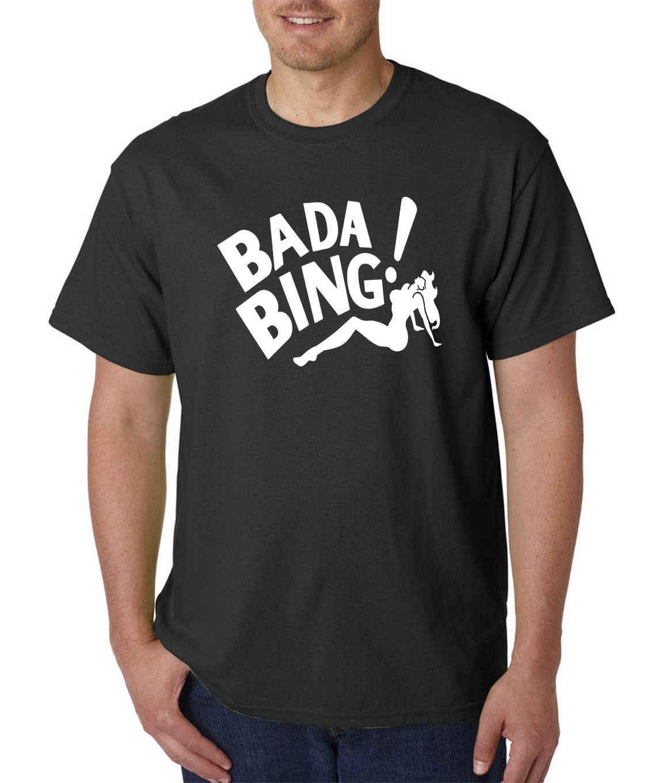 をバダビン Tシャツ-ギャングマフィアおかしいニュージャージー暴徒ストリップクラブ NY ファッションスタイルメンズ Tシャツ、綿 100% クラシック tシャツ