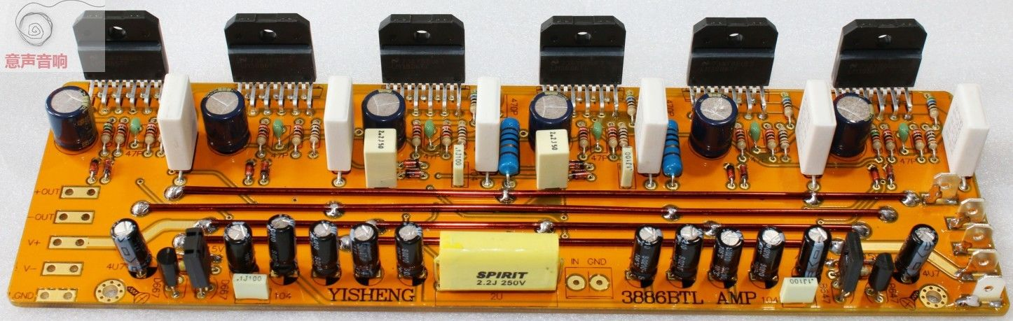 ZEROZONE (DIY kit) Hifi LM3886 Mono amplificateur kit 360 w base sur JEFF Rowland amp L6-8