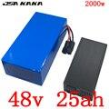 Бесплатная таможенная пошлина 48V 1000W 1500W 2000W ebike батарея 48V 25AH электрическая велосипедная батарея 48V 25AH литий-ионная батарея с зарядным устрой...