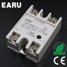 Relé de Estado sólido SSR SSR-80DA-H 80A 80DA-H 3-32 v DC PARA 90-480 v AC relé de estado sólido resistência Regulador