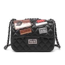 2017 luxus frauen Taschen Handtaschen Designer Berühmte Marke Mode Weiche Umhängetasche Weiblichen Sollte Kette Stepp Logo Kupplung YL03