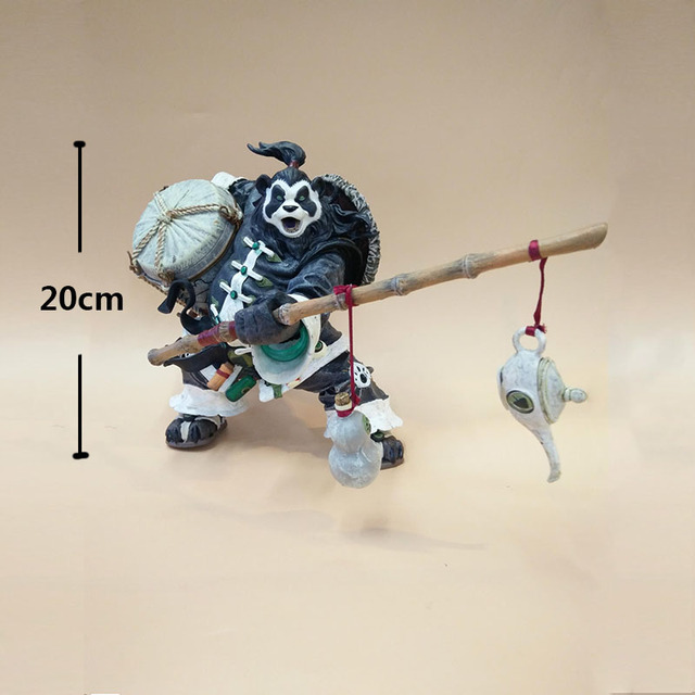20CM Chen Stormstout Action Figure 1/8 Anime Game World of War WOW The Pandaren anime figurines model toys for children Gift 1