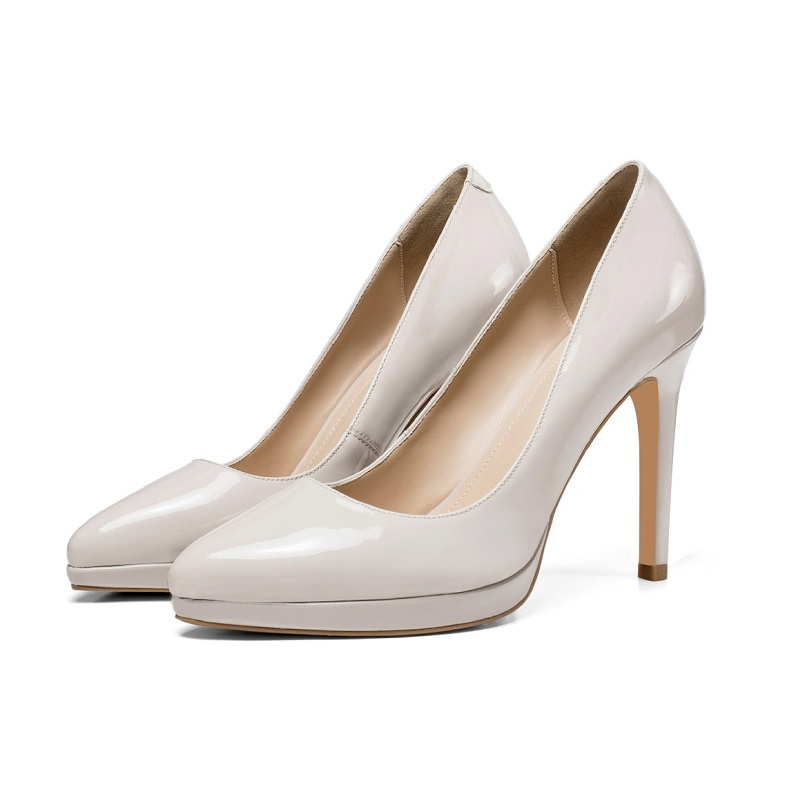 2018 spring and autumn new high-heeled shoes stiletto pointed shallow mouth ol professional shoes beige 03242018 spring and autumn new high-heeled shoes stiletto pointed shallow mouth ol professional shoes beige 0324