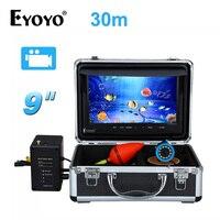 EYOYO 8GB 30m Cable Ice Fishing Camera 9 LCD 1000TVL Fish Finder Underwater Camera DVR Recorder