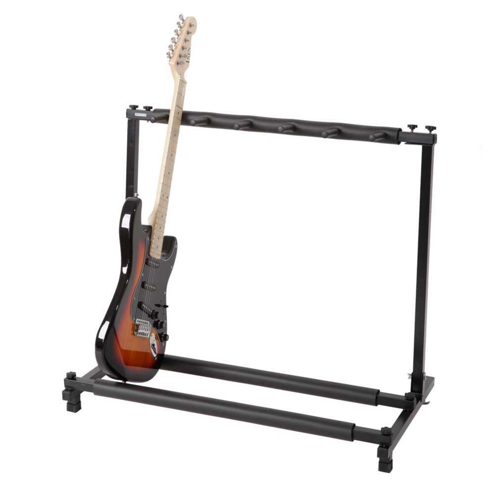 Support de guitare Multiple 3/5/7/9 support de présentoir pliable universel pour accessoires de guitare acoustique de toutes tailles