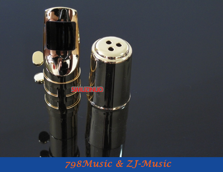 A2 modèle 7 #-embout Saxophone Alto en métal professionnel plaqué or