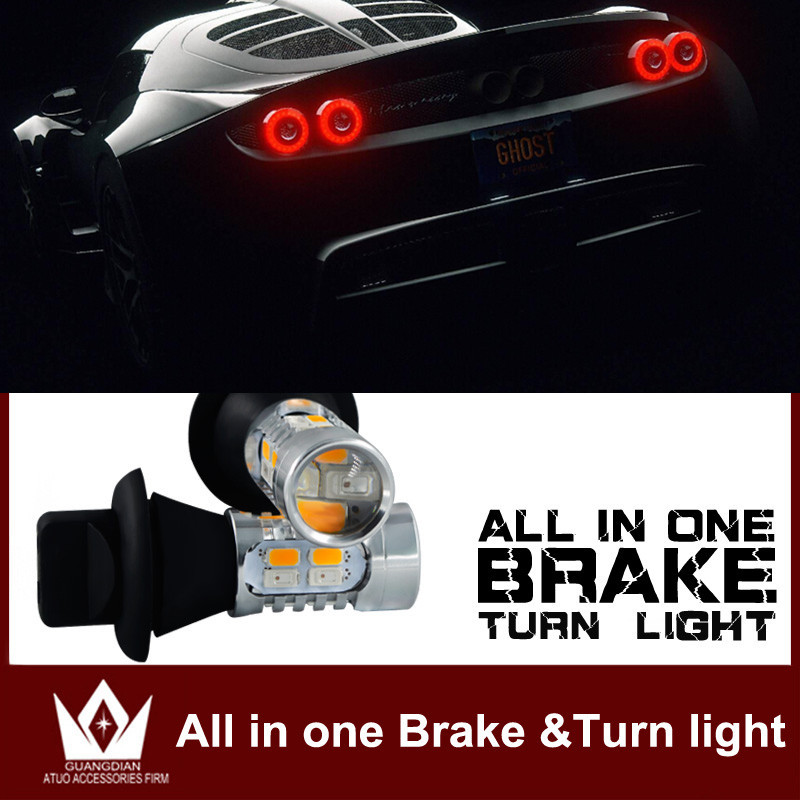 for kia/rio/sportage/ceed/sorento/k2/cerato/soul/optima/LED Bulb Reverse Backup Tail Break Stop Turn Signal light Dual function 2x 881 h27w 2 led smd fog light running bulb for kia rio rondo optima borrego