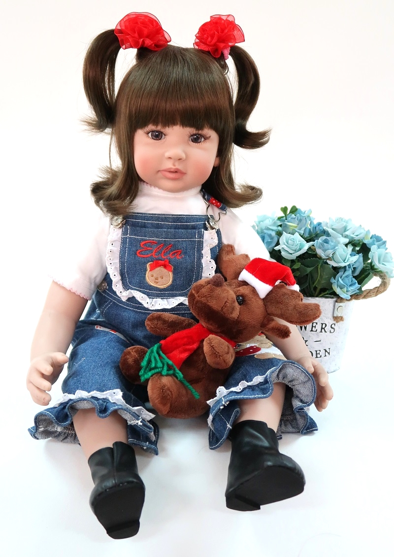 60 cm Belle Silicone Reborn Bébé Fille Poupée Jouet Vinyle Princesse Toddler Bébés Comme Vivant Bebe Bonecas De Mode D'anniversaire De Noël cadeau