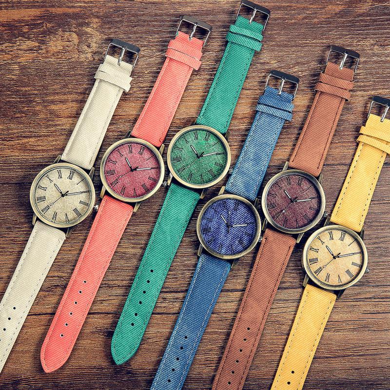 MEIBO Relojes Women Quartz Watches Denim Design Leather Strap Male Casual Wristwatch Relogio Masculino Ladies Watch female watch 2