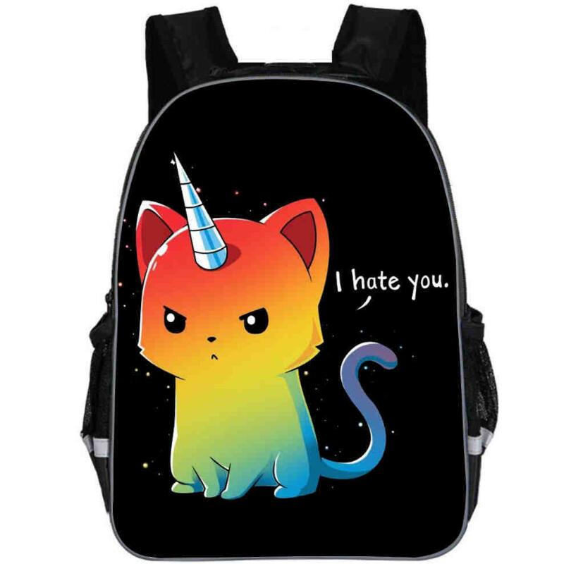 Unicorn Backpack Rainbow Dab Pony Horse Cat For Teenagers Boys Girls Toddler Animal Kid School Book Bags Men Women Mochila Bolsa