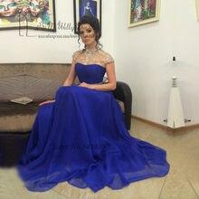 Abiye Gece Elbisesi Elegant Long Dresses Evening Gowns Crystal Royal Blue  High Neck Prom Dress 2016 Backless Robe de Soiree 5ec700eca5d7