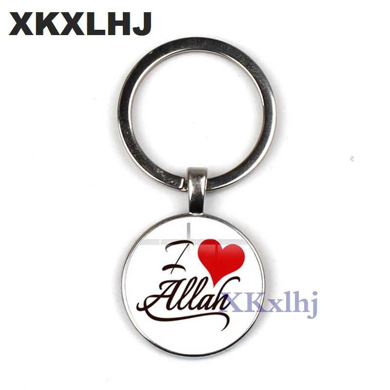 XKXLHJ ファッションアッラーペンダントキーリングバッグチャームクリエイティブイスラムアッラーアラブイスラム教徒シンボル 11 スタイルキーチェーンホルダー女性男性