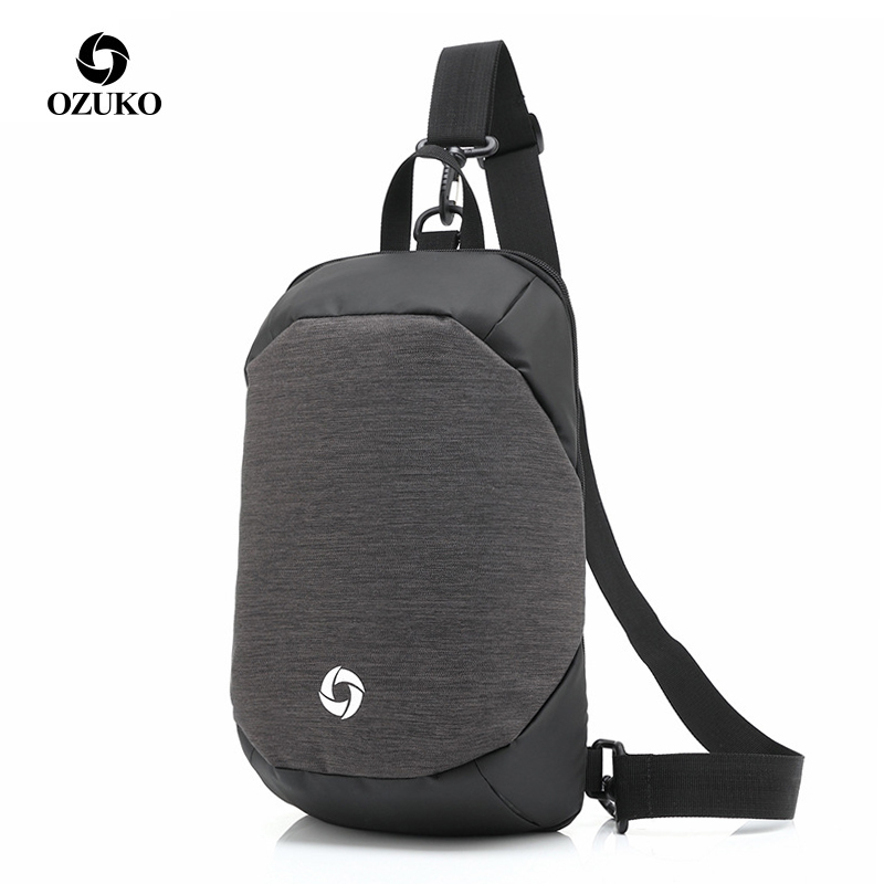 OZUKO High Quality Anti-theft Chest Pack for Men Fashion Messenger Bags Short Trip Casual Crossbody Bag Male Shoulder Chest Bag
