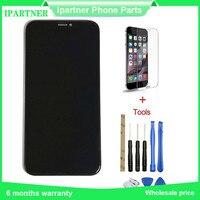 Оригинальный мобильный телефон ЖК дисплей для Iphone X ЖК дисплей Сенсорный экран Запчасти для авто 10 шт./лот 5,8 дюймов Высокое качество Черного