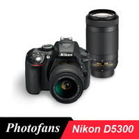Nikon D5300 DSLR Kamera Dual Lens Kit mit Nikon AF-P 18-55mm Objektiv und Nikon AF-P 70-300mm Objektiv