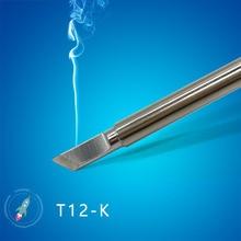 QUICKO T12-K KL KR KU KF Shape K series Welding iron tips  OLED&STC-LED T12 Soldering station 7s melt tin