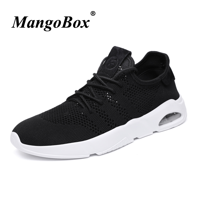 Man Sneakers for Sport Comfortable Sneakers Male Black White Man Running Shoes Breathable Rubber Bottom Tracking Shoes Male