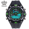Green PU resin Nstrap multi-function Outdoor Dual Display Electronic Watch Men Present Gift Fantastic Outdoor 50m Waterproof1352