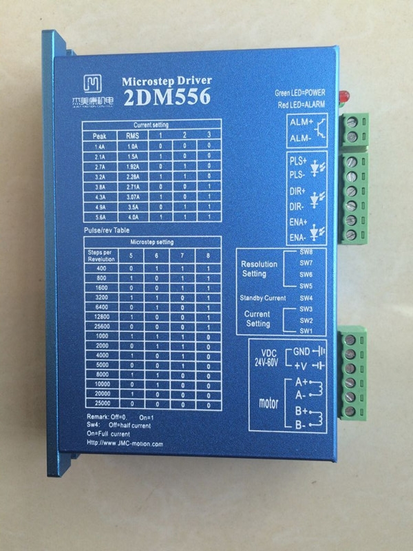 2DM556 2 phase NEMA23 stepper motor driver 32bit DSP DC36V 5.6A JMC replace leadshine DM556 цена