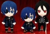Anime ewidencyjna Cyrk Pluszowe lalki zabawki Kuroshitsuji Kuroshitsuji Sebastian, Ciel, grell sutcliff figurki zabawki darmowa wysyłka