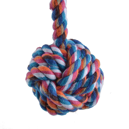 New Fashion Funny Puppy Dog Pet Chew Toy Cotton Braided Long Rope Colorful Chewing Knot BHU7