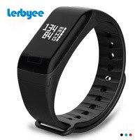 Lerbyee F1 Smart Bracelet Heart Rate Blood Pressure Monitor Call Reminder Fitness Tracker Waterproof Activity Tracker