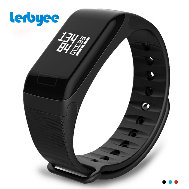 Lerbyee F1 Smart Bracelet Heart Rate Blood Pressure Monitor Call Reminder Fitness Tracker Waterproof Activity Tracker for iPhone makibes dm58 smart bracelet blood pressure heart rate monitor ip68 waterproof call reminder activity tracker smart band