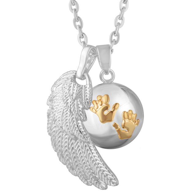Angel wing baby hands carved chime ball pregnancy pendant with angel wing baby hands carved chime ball pregnancy pendant with collares eudora harmony ball best christmas aloadofball Choice Image