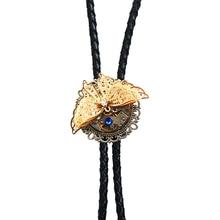 1pcs Original Designer Bolo Ties Leather Belt, Steampunk Mechanical Watch(don't