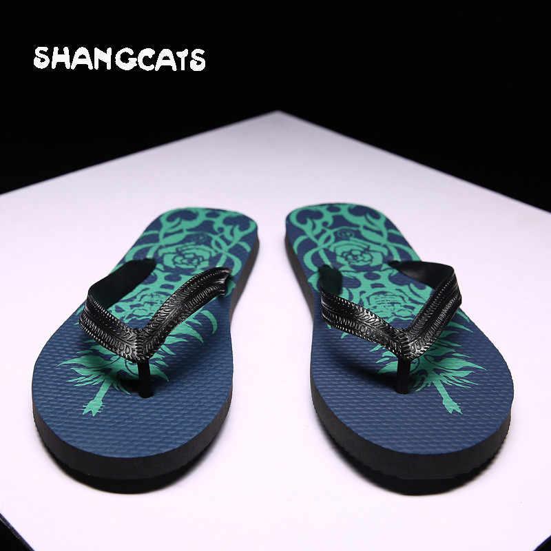 b83aca3d17c2f Men Shoes Casual Flip Flops Cheap zapatos de hombre Men s Slippers Summer  erkek ayakkabi pantufa slides
