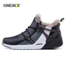 onemix New Waterproof Snow Boots men Sneaker Men Trainers Walking Outdoor Athletic Comfortable Warm Wool Running Shoes Hot sell