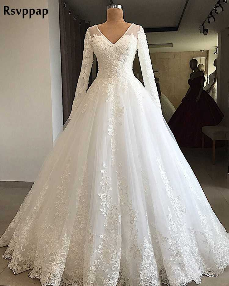 Ball Gown Long Sleeve Wedding Dress
