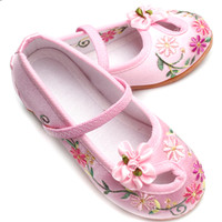 chinese kids shoes for children Embroidered shoes Handmade Chinese style Girl's shoes Breathable Absorb sweat 20182235