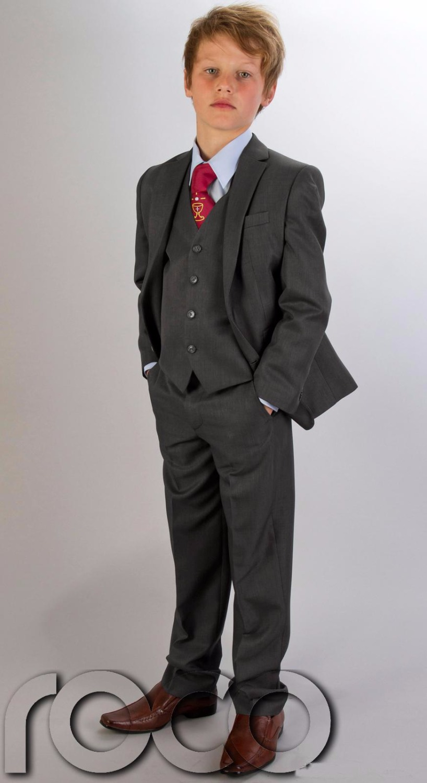 First Communion Boy Grey Suit