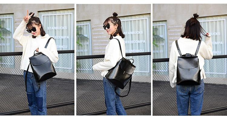 HTB1yB3kQ3HqK1RjSZFgq6y7JXXaB HOT Fashion Women Backpack High Quality Youth Leather Backpacks for Teenage Girls Female School Shoulder Bag Bagpack mochila