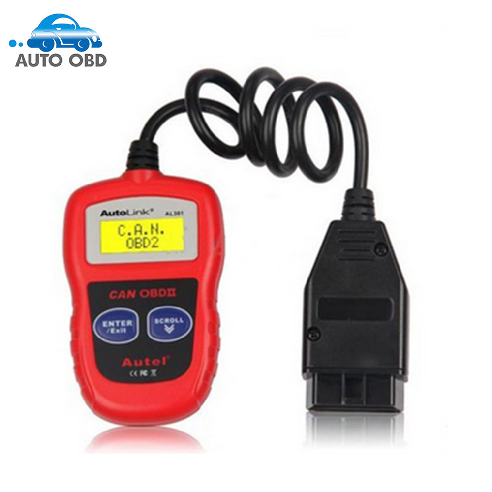 ФОТО Original Autel AutoLink AL301 OBDII/CAN Code Reader Clear DTCs Easiest-To-Sse Tool with free shipping