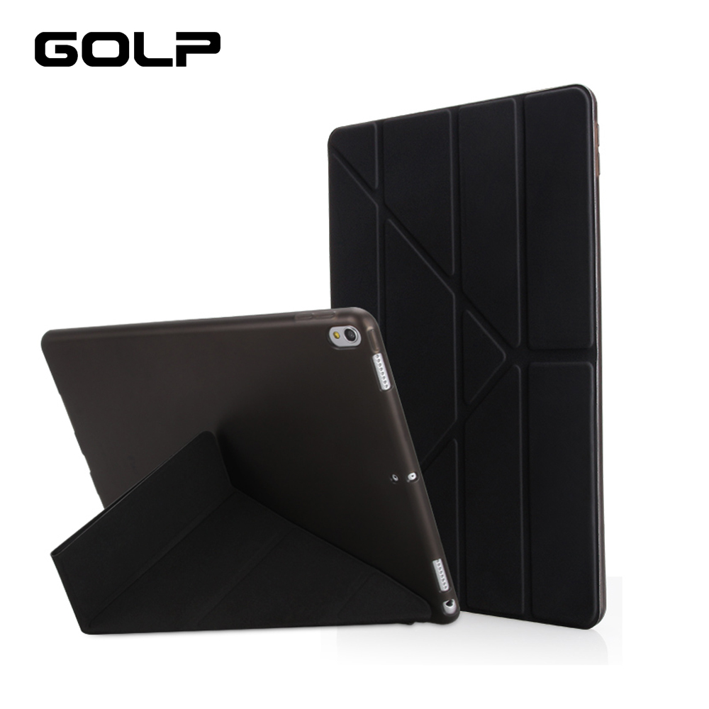 Case for New iPad Pro 10.5 inch 2017, GOLP Ultra Slim PU leather Smart Cover Magnet wake up sleep PC Back for ipad pro 10.5 case ultra slim smart case cover for apple ipad pro 12 9 2015 2016 12 9 pu leather tablet folding folio cases pc back cover