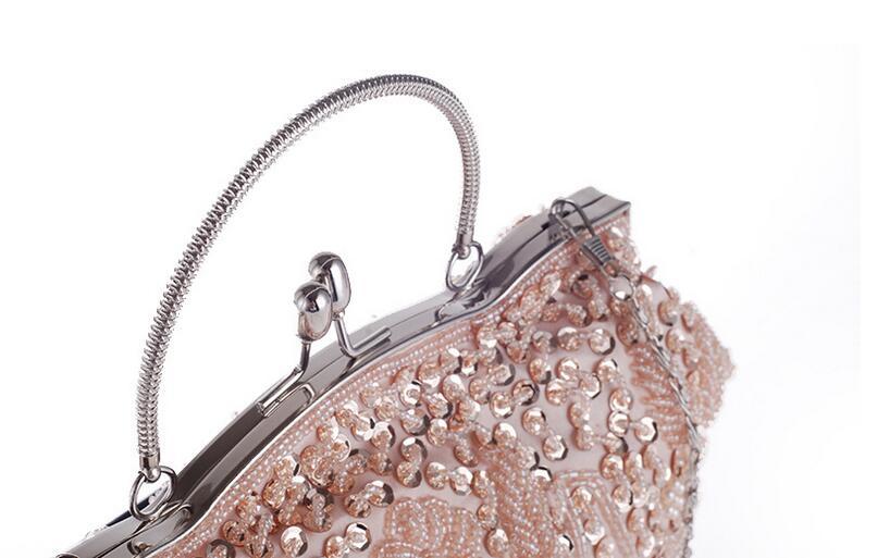 Hobos estilo diseño moldeado hecho a mano de las mujeres de embrague noche bolso nupcial de la boda de tarde del bolso 10 colores