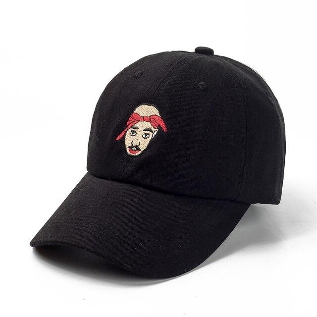 Tupac Shakur Hat 100 Cotton Baseball Cap Embroidery Dad Hats Rap