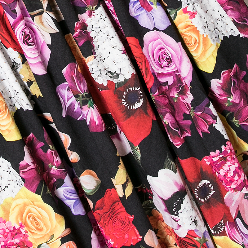 Pour Imprimé Mode Noir Décontracté Femme Robe Blanc Midi Cou Supérieure blanc Piste Noir Floral Qualité Été V De Conception Coloré 2019 q6w7PngIq