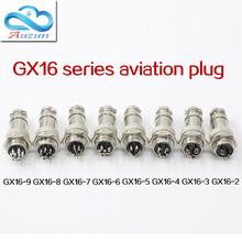 Pięć sztuk średnica otworu powietrza 16 mm GX16 2 złącze pinowe wspólne rdzeń 3 rdzeń 4 rdzeń 5 rdzeń 6 rdzeń rdzeń 7 rdzeń 8 rdzeń 9cor tanie tanio HG-GX001 HAOGNCN