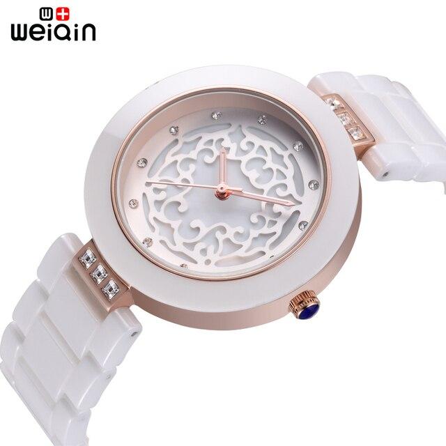 WEIQIN Marca di Alta Qualità Piena Delle Donne di Ceramica Orologi Elegante Relojes Mujer 2019 Donne Della Vigilanza di Modo 3ATM Impermeabile Montre Femme