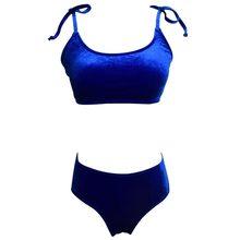 e6144661a9 2018 Sexy Velvet Sling Bikini Set Swimwear Women Swim Bathing Suit Beach  Wear Push Up Swimsuit Female Bather Tanga Brazilian