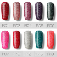 Rosalind Top Bán Led & UV Polish Nail Gel Glitter Cầu Vồng Nail màu UV Polish 7 ML Vernis Bán Vĩnh Viễn Nar Art Nails Gel(China)