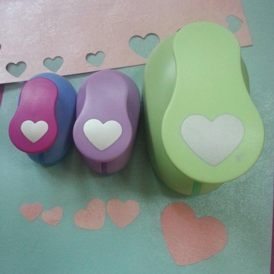 Heart craft punch large - 3pcs 5cm 2 5cm 1 6cm Cortador De Papel De Scrapbook Loving