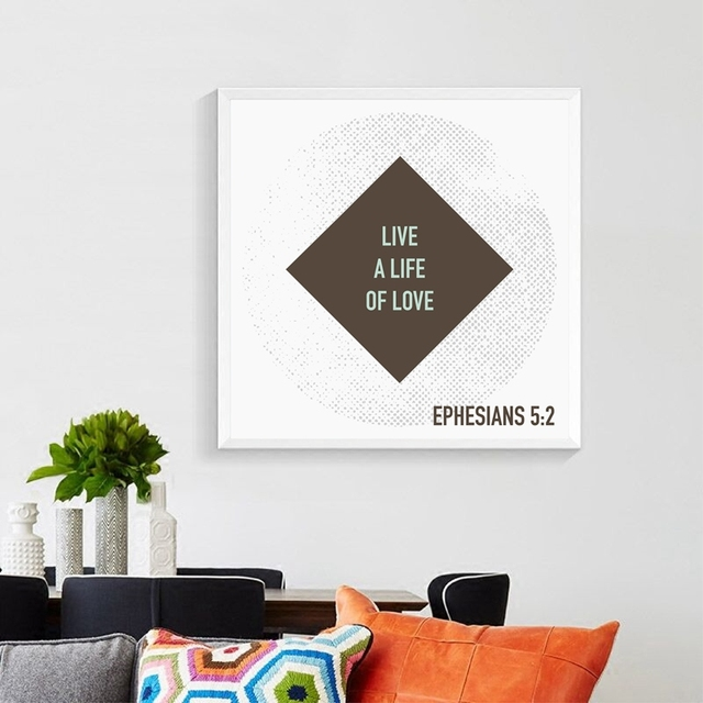 Love Never Fails Christian Prints Poster Bible Verse Canvas Painting Home Living Room Wall Art